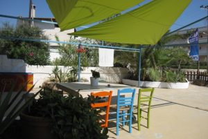 Blue Yard Hub outdoor table